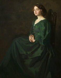 Платье зеленое, платье черное